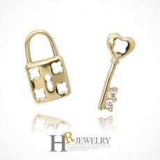 14K 로얄 열쇠 자물쇠 귀걸이